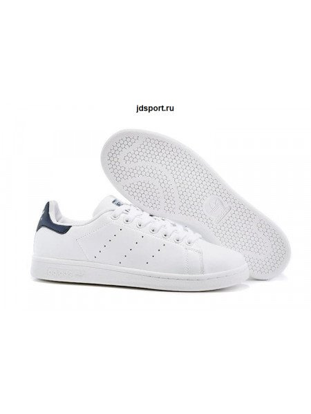 Adidas Stan Smith (White White/Deep Blue)