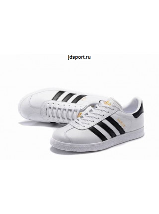 Adidas Gazelle Leather (White/Black)