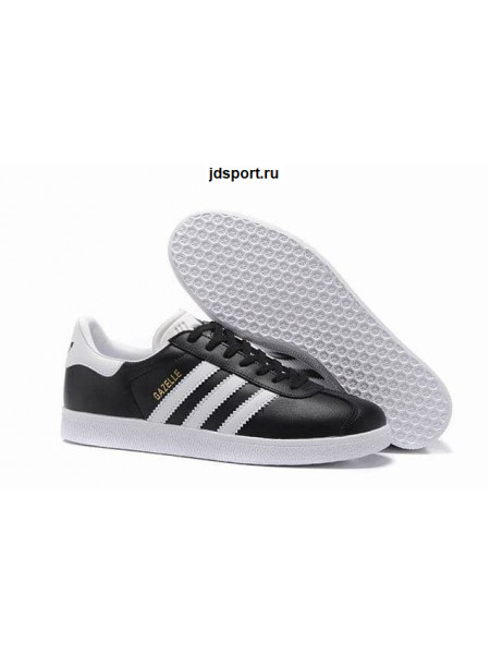 Adidas Gazelle Leather (Black/White)