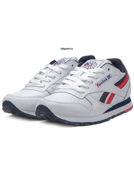 Reebok Classic Leather (White/Blue/Red)