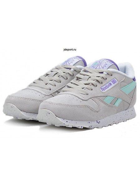 Reebok Classic (Light Grey/Turquoise/Purple)