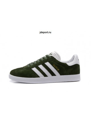 Adidas Gazelle Suede (Olive Green/White/Gold)