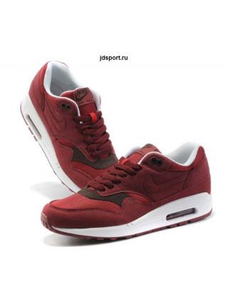 Nike Air Max 1 (87) (Team Red/Velvet Brown/White)