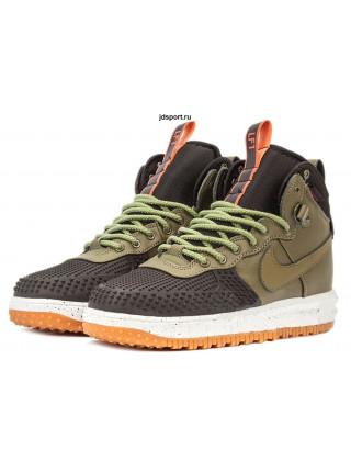 "Nike Lunar Force 1 ""Duckboot"" (Black/Dark Loden-Bright Crimson)"