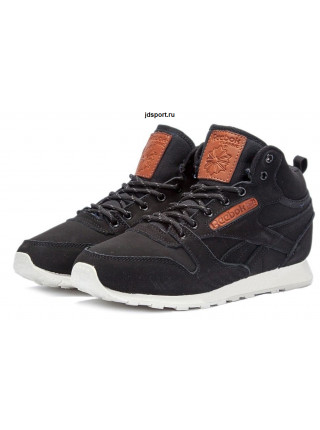 "Reebok Classic High ""With Fur"" (Black/Brown)"