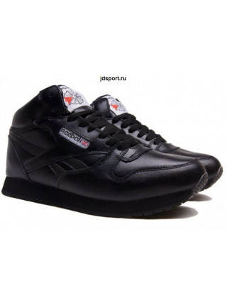 "Reebok Classic Leather High ""With Fur"" (All Black)"