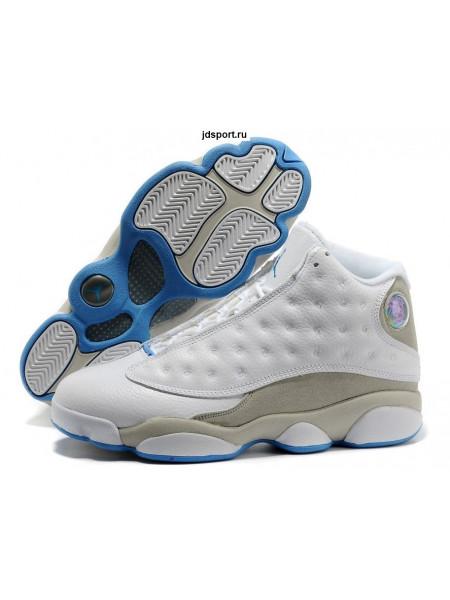 Air Jordan 13 Retro (White/Neutral Grey/University Blue)
