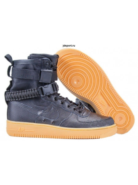 Nike SF AF1 Special Field Air Force 1 (Black/Black Gum Light Brown)