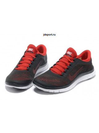 Nike Free Run 3.0 V5 (Dark-Charcoal/Chilling-Red/White)