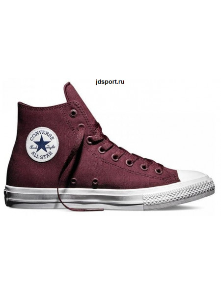 Converse Chuck Taylor All Star II High (Burgundy/White)
