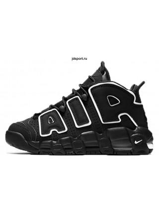 Nike Air More Uptempo (Black Black/White)
