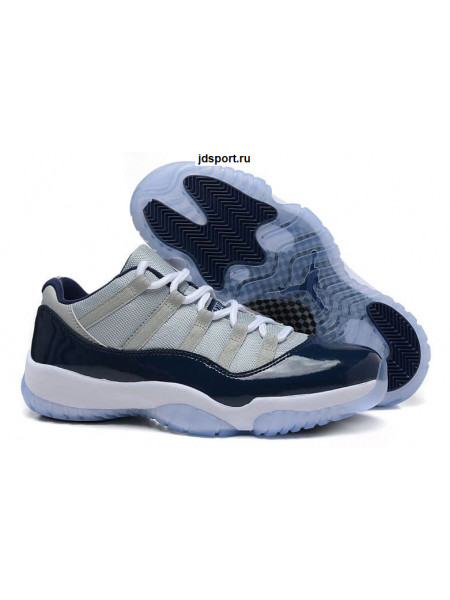 "Air Jordan 11 Retro ""George Town"" Low (grey/blue/white)"