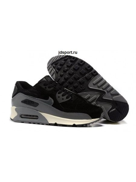 Nike Air Max 90 LTHR (Black/Grey)