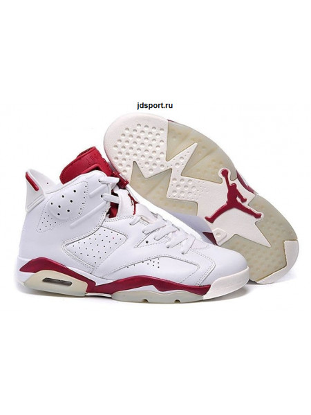 "Air Jordan 6 Retro ""Maroon"" (White/Red)"