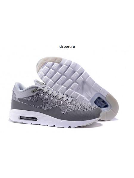 Nike Air Max 1 (87) Ultra Flyknit (White/Grey)