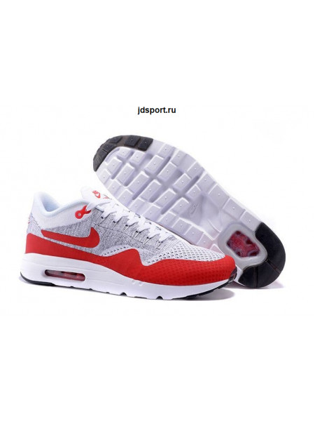Nike Air Max 1 (87) Ultra Flyknit (White/Red/Grey)