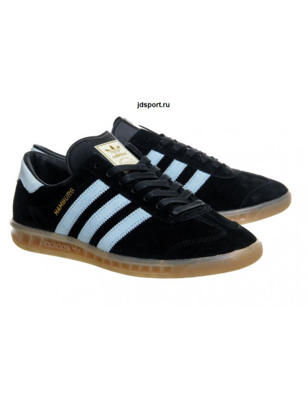 Adidas Hamburg (Black/Light Blue)
