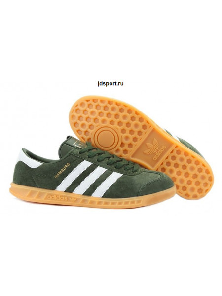 Adidas Hamburg (Dark Green/White)
