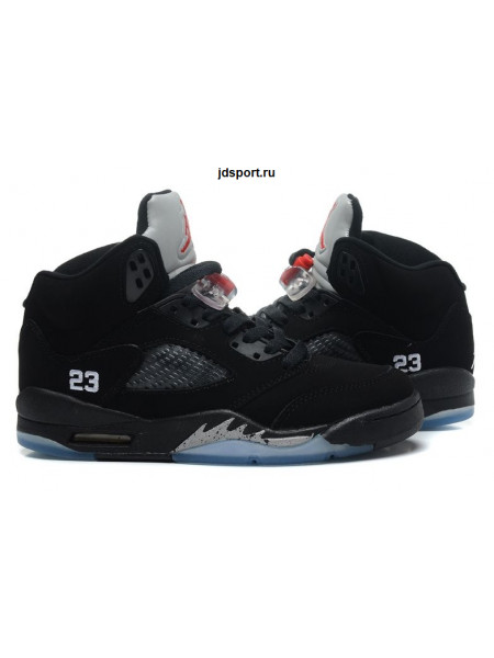 Air Jordan 5 Retro (black/silver/red)