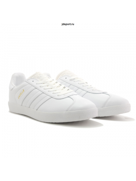 Adidas Gazelle Leather White Кожа