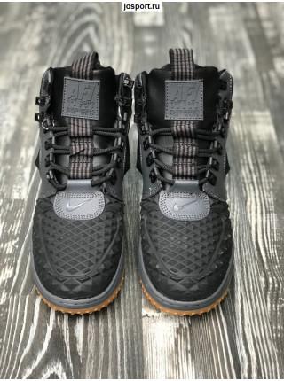 Зимние Nike Lunar Force 1 Серые с мехом