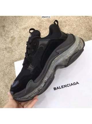 Balenciaga triple s Black 2019 clear sole