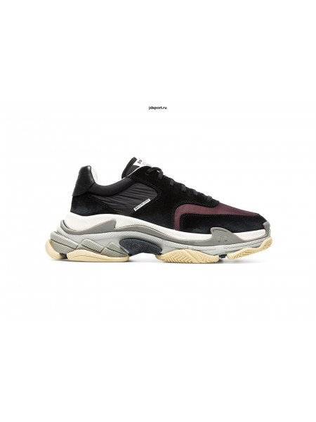 Balenciaga Triple S Black Burgundy