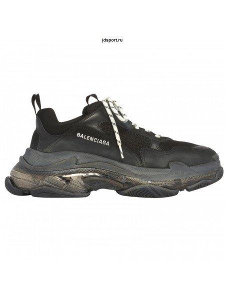 Balenciaga triple s Black 2019 clear sole