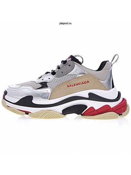 Кроссовки Balenciaga Triple S With Metallic Silver
