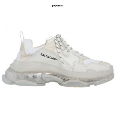 Balenciaga triple s White 2019 clear sole