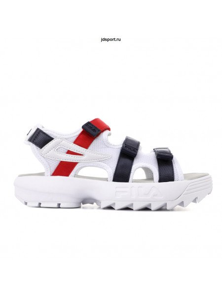 FILA DISRUPTOR Sandal White\red\black