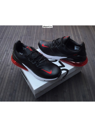 Nike Air Max 270 Black/red Кожаные