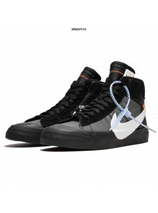 Off White x Nike Blazer MID Spooky Black