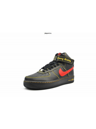 Nike Air Force 1 High (black/Red/Yellow)