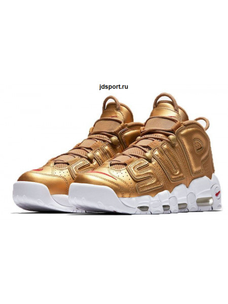 "Supreme x Nike Air More Uptempo ""Suptempo"" (Metallic Gold/White)"