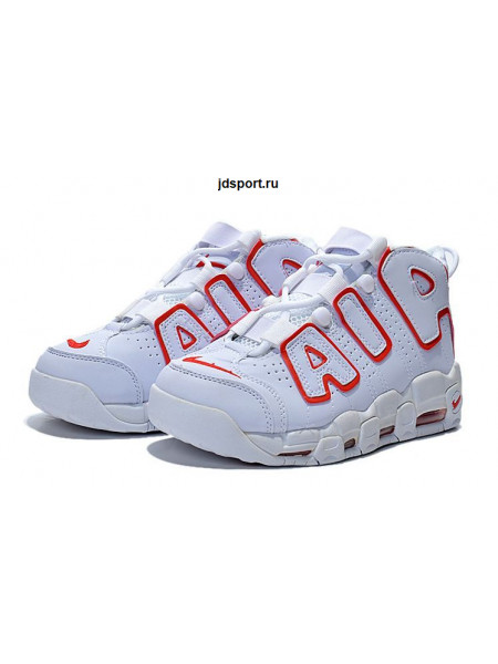 Nike Air More Uptempo (White/Versity Red)
