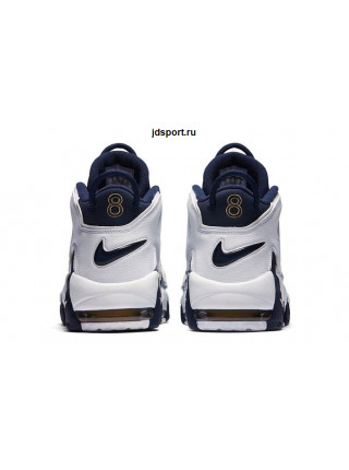 Nike Air More Uptempo (White/Mid night Navy)