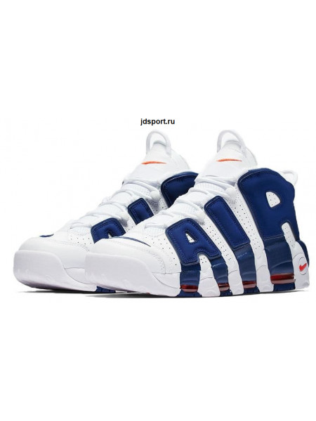Nike Air More Uptempo (White/Deep Royal Blue)
