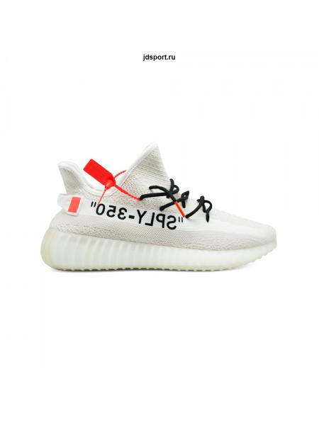Кроссовки Adidas Yeezy Boost 350 v2 белые, черные