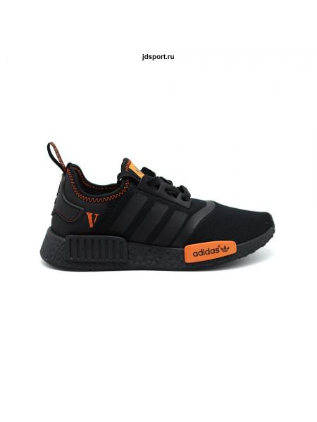 Кроссовки ADIDAS NMD R1 черные, оранжевые