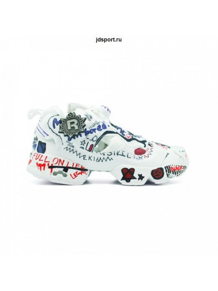 Кроссовки Vetements x Reebok Insta Pump белые
