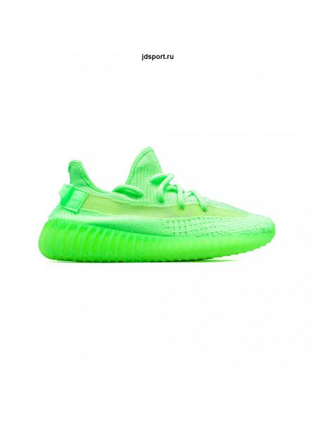 Кроссовки Adidas YEEZY Boost 350 V2 Gid Glow зеленые