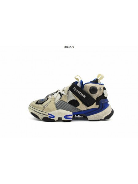Vetements White and Blue Reebok Edition Genetically Modified
