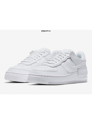 Nike Womens Air Force 1 Shadow Triple White