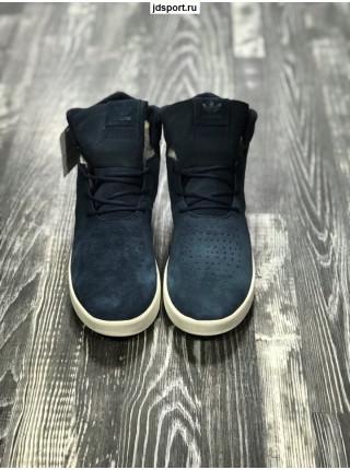 Мужские Adidas Tubular Синие с мехом