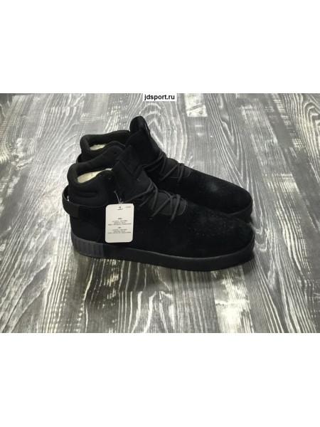 Мужские Adidas Tubular Черные с мехом