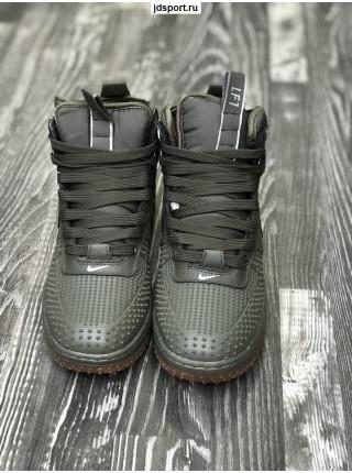 Nike Lunar Force 1 хаки с мехом