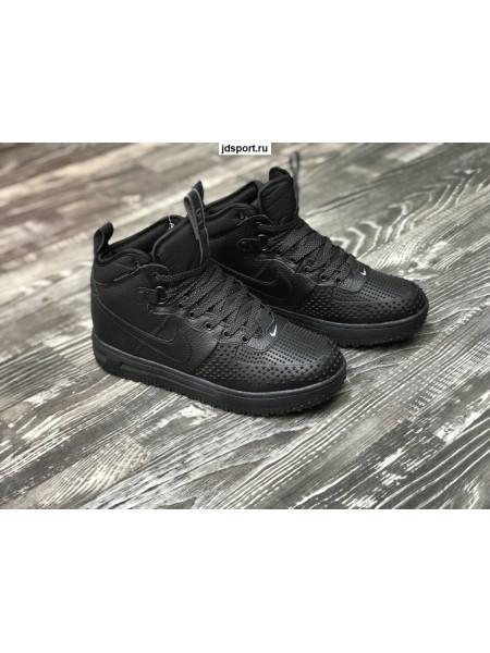 Nike Lunar Force 1 Черные с мехом