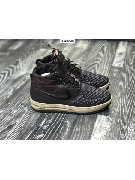 Nike Lunar Force 1 Коричневые с мехом