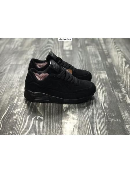 Зимние Nike Air Max 90 VT с Мехом Winter (Black)